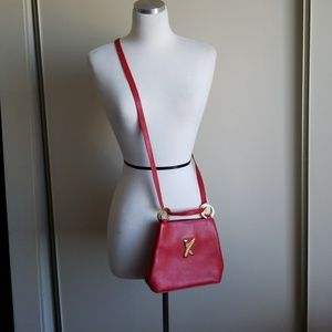 Paloma Picasso X Crossbody Bag Red Leather